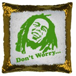 Подушка-хамелеон Don't Worry (Bob Marley)
