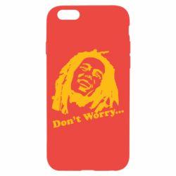 Чехол для iPhone 6/6S Don't Worry (Bob Marley)