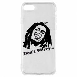 Чехол для iPhone 7 Don't Worry (Bob Marley)