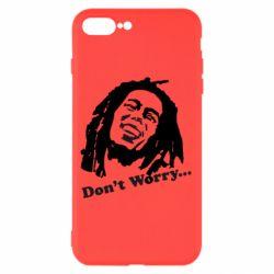 Чехол для iPhone 7 Plus Don't Worry (Bob Marley)