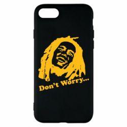 Чехол для iPhone 8 Don't Worry (Bob Marley)