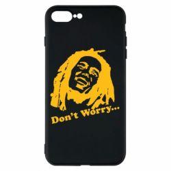 Чехол для iPhone 8 Plus Don't Worry (Bob Marley)