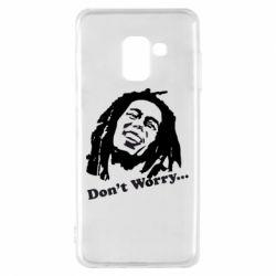 Чехол для Samsung A8 2018 Don't Worry (Bob Marley)