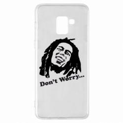 Чехол для Samsung A8+ 2018 Don't Worry (Bob Marley)
