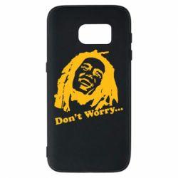 Чехол для Samsung S7 Don't Worry (Bob Marley)