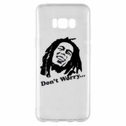 Чехол для Samsung S8+ Don't Worry (Bob Marley)