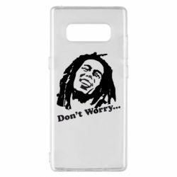 Чехол для Samsung Note 8 Don't Worry (Bob Marley)