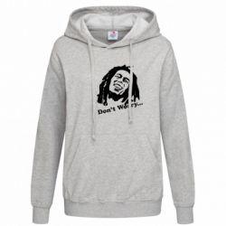 Женская толстовка Don't Worry (Bob Marley) - FatLine