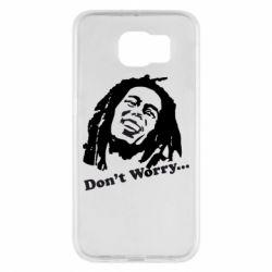 Чехол для Samsung S6 Don't Worry (Bob Marley)