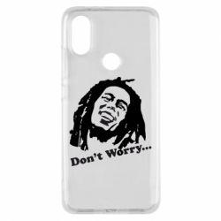 Чехол для Xiaomi Mi A2 Don't Worry (Bob Marley)