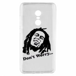 Чехол для Xiaomi Redmi Note 4 Don't Worry (Bob Marley)