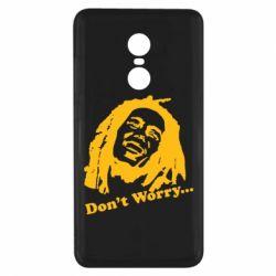 Чехол для Xiaomi Redmi Note 4x Don't Worry (Bob Marley)