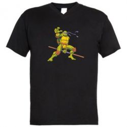 Мужская футболка  с V-образным вырезом Donatello - FatLine