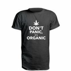 Удлиненная футболка Dont panic its organic