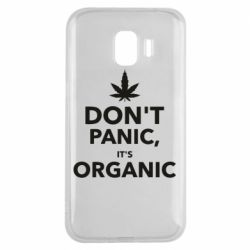 Чехол для Samsung J2 2018 Dont panic its organic