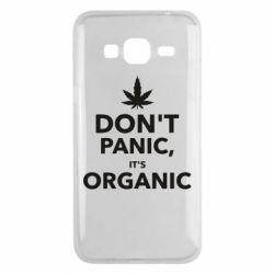 Чехол для Samsung J3 2016 Dont panic its organic
