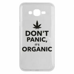 Чехол для Samsung J7 2015 Dont panic its organic