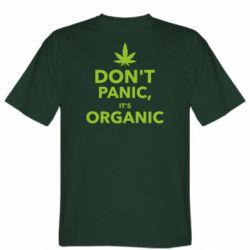 Мужская футболка Dont panic its organic