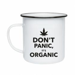 Кружка эмалированная Dont panic its organic