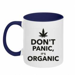 Кружка двухцветная 320ml Dont panic its organic
