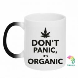 Кружка-хамелеон Dont panic its organic