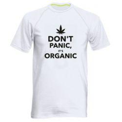Мужская спортивная футболка Dont panic its organic