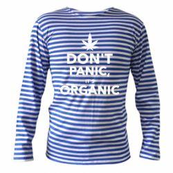 Тельняшка с длинным рукавом Dont panic its organic