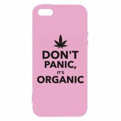 Чехол для iPhone5/5S/SE Dont panic its organic