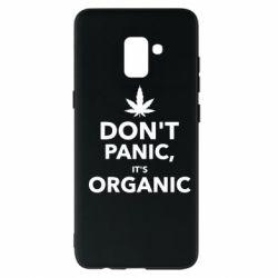 Чехол для Samsung A8+ 2018 Dont panic its organic