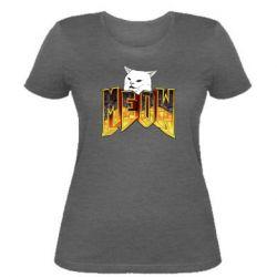 Жіноча футболка Doom меов cat