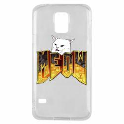 Чехол для Samsung S5 Doom меов cat