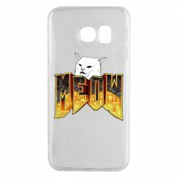 Чехол для Samsung S6 EDGE Doom меов cat