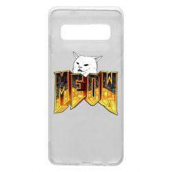 Чехол для Samsung S10 Doom меов cat