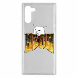 Чехол для Samsung Note 10 Doom меов cat