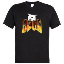 Чоловіча футболка з V-подібним вирізом Doom меов cat