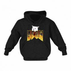 Дитяча толстовка на флісі Doom меов cat
