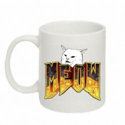 Кружка 320ml Doom меов cat