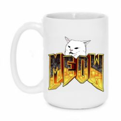 Кружка 420ml Doom меов cat