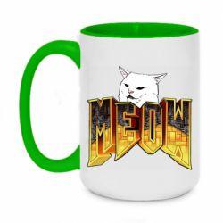 Кружка двоколірна 420ml Doom меов cat