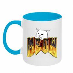 Кружка двоколірна 320ml Doom меов cat