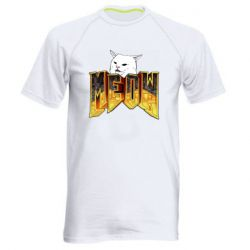Чоловіча спортивна футболка Doom меов cat