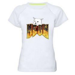 Жіноча спортивна футболка Doom меов cat