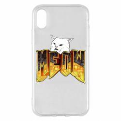 Чохол для iPhone X/Xs Doom меов cat
