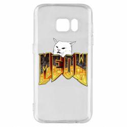 Чехол для Samsung S7 Doom меов cat