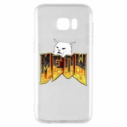 Чехол для Samsung S7 EDGE Doom меов cat