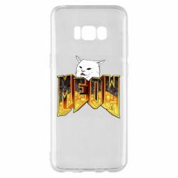 Чехол для Samsung S8+ Doom меов cat