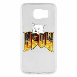 Чехол для Samsung S6 Doom меов cat
