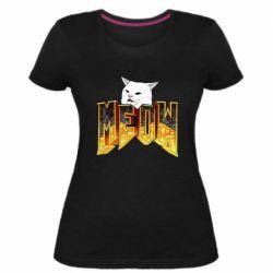 Жіноча стрейчева футболка Doom меов cat