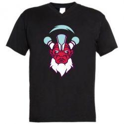 Мужская футболка  с V-образным вырезом Dota 2 Art - FatLine