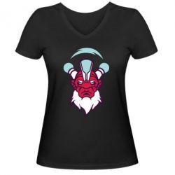 Женская футболка с V-образным вырезом Dota 2 Art - FatLine